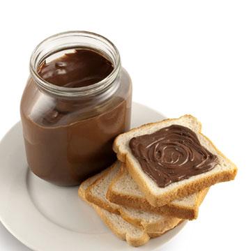 Voedingswaarde Chocoladepasta, puur per 100 gram.