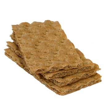 Voedingswaarde Knäckebröd met vezels, gem. per 100 gram.