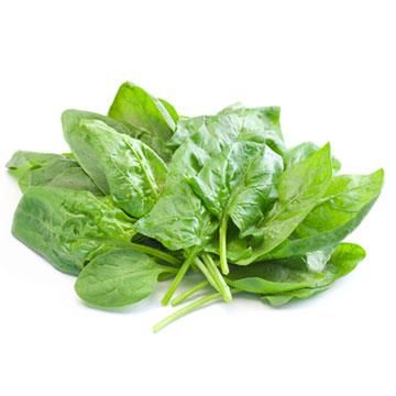 hoeveel gram spinazie per persoon